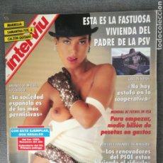 Colecionismo da Revista Interviú: INTERVIÚ N.º 922 1994 MARIBEL VERDÚ, SAMANTHA FOX, TERENCI MOIX, CICCIOLINA, COLIN IRELAND ASESINO. Lote 244669950