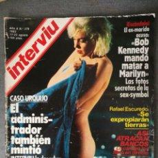 Colecionismo da Revista Interviú: REVISTA INTERVIÚ Nº 379 1983 MARILYN MONROE, MARÍA JOSÉ CANTUDO, ANGELA MOLINA FERNANDO REY YIYO. Lote 244992655