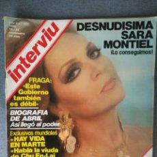 Colecionismo da Revista Interviú: INTERVIU Nº 127 1980 SARA MONTIEL, COREA DEL NORTE. MATANZA DEL ATÚN, SERENA GRANDI, PALMAR DE TROYA. Lote 245006835