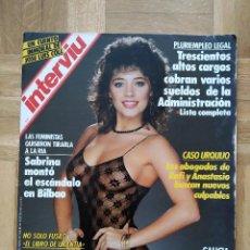 Coleccionismo de Revista Interviú: REVISTA INTERVIU 609 SABRINA SALERNO ESCANDALO EN BILBAO. J.J BENITEZ PLAGIO. CASO URQUIJO. PEGASO.. Lote 246862820