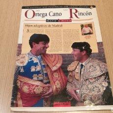 Coleccionismo de Revista Interviú: LAS FIGURAS MÁS POLÉMICAS DEL TOREO ACTUAL - ORTEGA CANO / CÉSAR RINCÓN - INTERVIU. Lote 248804910