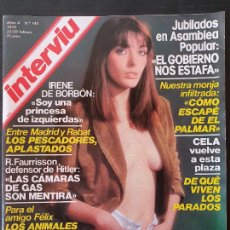 Collectionnisme de Magazine Interviú: REVISTA INTERVIU Nº 145. Lote 252092200