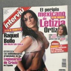 Collezionismo di Rivista Interviú: INTERVIU 1438 2003 RAQUEL BOLLO, LETIZIA ORTIZ, DANIPEDROSA, FELE MARTÍNEZ, MIGUEL BOSÉ. Lote 253291170