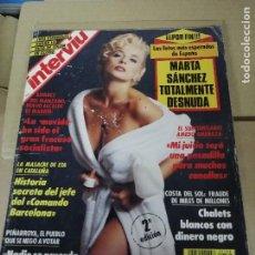 Coleccionismo de Revista Interviú: INTERVIU Nº 788 , MARTA SANCHEZ TOTALMENTE DESNUDA, LA MASACRE DE ETA EN CATALUÑA, AMEDO AMENAZA. Lote 213601820