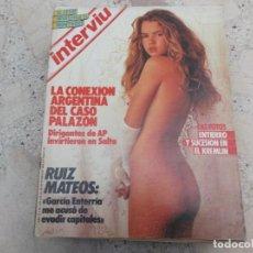 Collezionismo di Rivista Interviú: INTERVIU Nº 462, RUIZ MATEOS, ASIS, EL CASO PALAZON, GORBACHOV, LA SECTA CEIS, ALEJANDRA BOTO. Lote 254703695