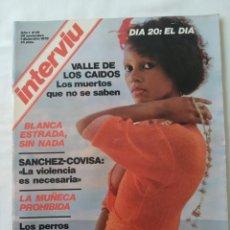 Coleccionismo de Revista Interviú: REVISTA INTERVIU AÑO 1 NO. 28,BLANCA ESTRADA,VALLE DE LOS CAIDOS,ROSA VALENTY. Lote 261167655