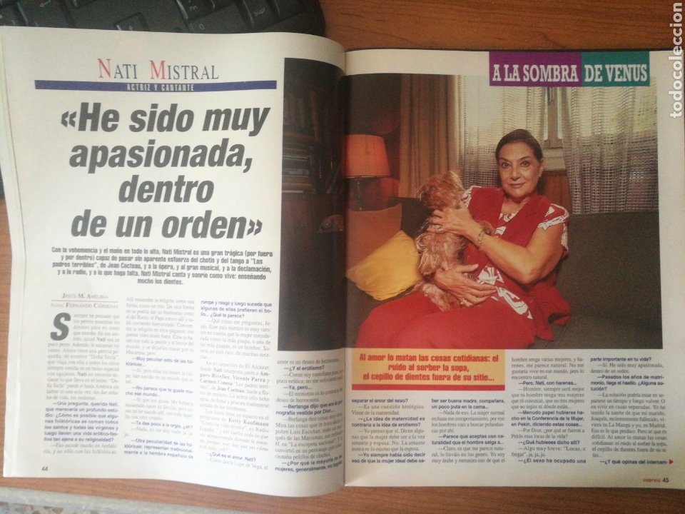 Coleccionismo de Revista Interviú: INTERVIU 1013 1995 NATI MISTRAL, LUCÍA GONZÁLEZ. CARLOS CANO, ENRIQUE MÚJICA, WILMA JERENSKI - Foto 2 - 262751170