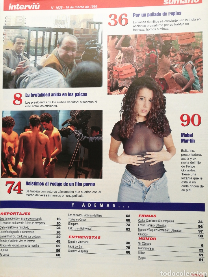 Coleccionismo de Revista Interviú: REVISTA INTERVIU 1038 1996 SAMANTHA FOX, MABEL MARTIN, LAURA DEL SOL - Foto 2 - 262745710