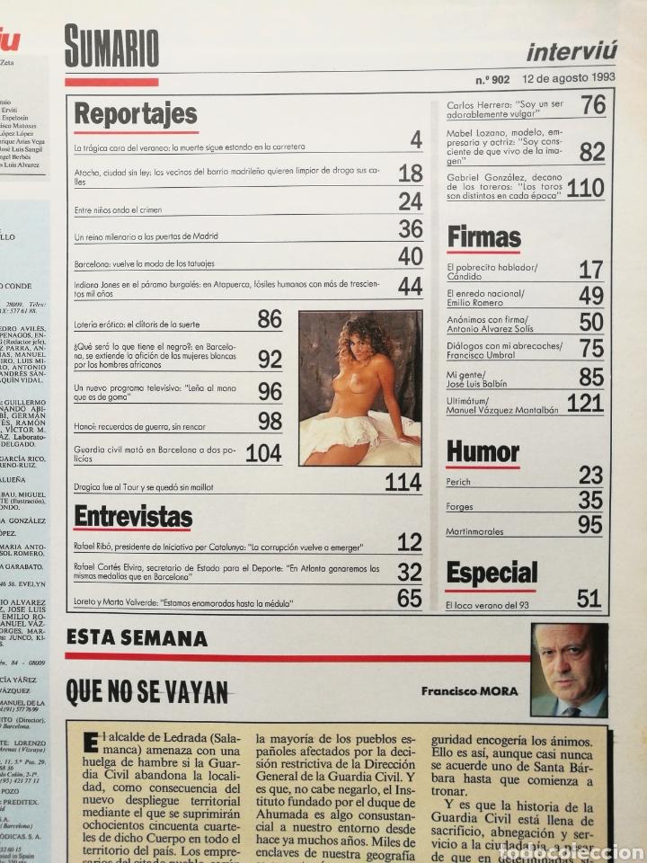 Coleccionismo de Revista Interviú: INTERVIÚ 902 1993 ESTHER ARROYO MISS ESPAÑA, ANDRÉ AGASSI, LORETO Y MARTA VALVERDE, MABEL LOZANO - Foto 2 - 262746170