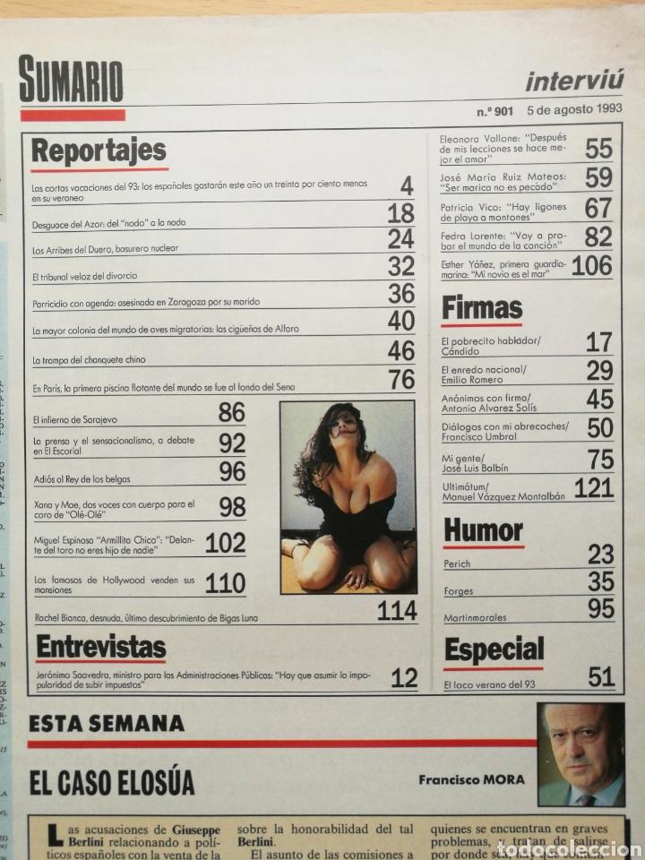 Coleccionismo de Revista Interviú: INTERVIÚ 901 1993 CAROLINA ZAPATA, RACHEL BIANCA, ELEONORA VALLONE, PATRICIA VICO FEDRA LORENTE - Foto 2 - 262746325