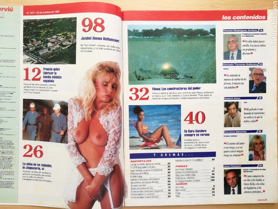 Coleccionismo de Revista Interviú: INTERVIÚ 1017 1995 SILVIA MARSÓ, SARA SANDERS, IMANOL ARIAS, ENCARNA SANCHEZ, JOAN GASPART - Foto 2 - 262746940