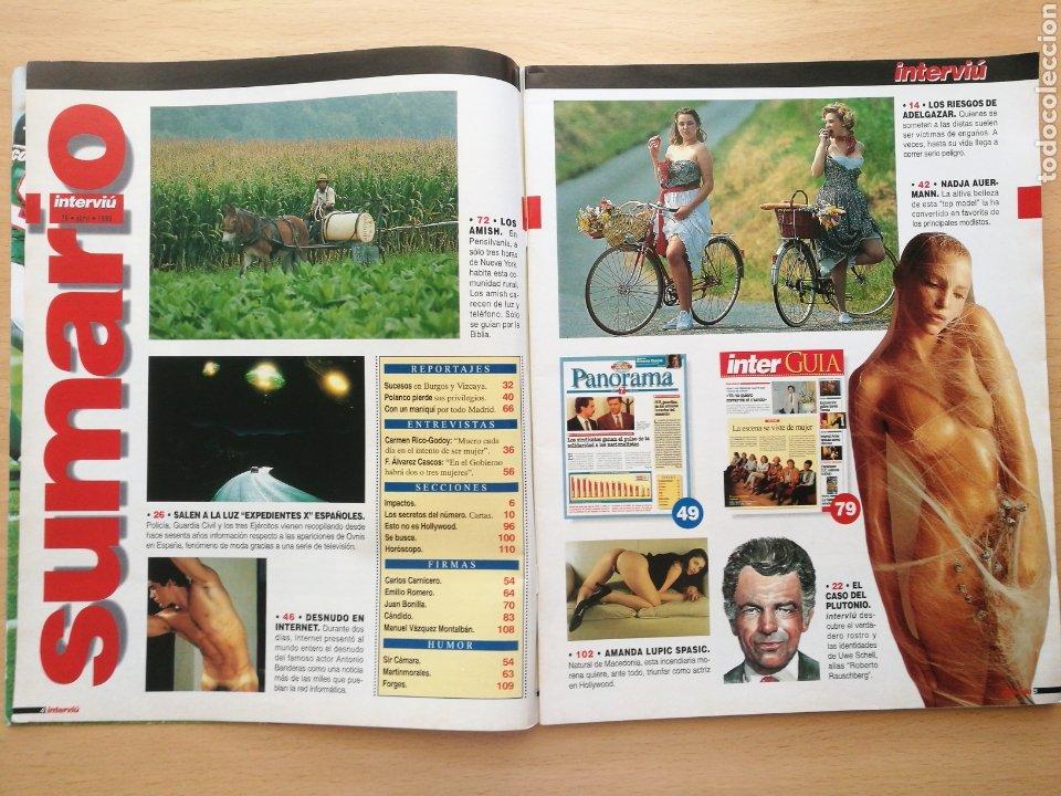 Coleccionismo de Revista Interviú: Revista Interviú nº 1044 Amanda Lupic, Antonio Banderas, Carmen Rico Godoy, Dadja Auermann, Amish - Foto 2 - 262747050