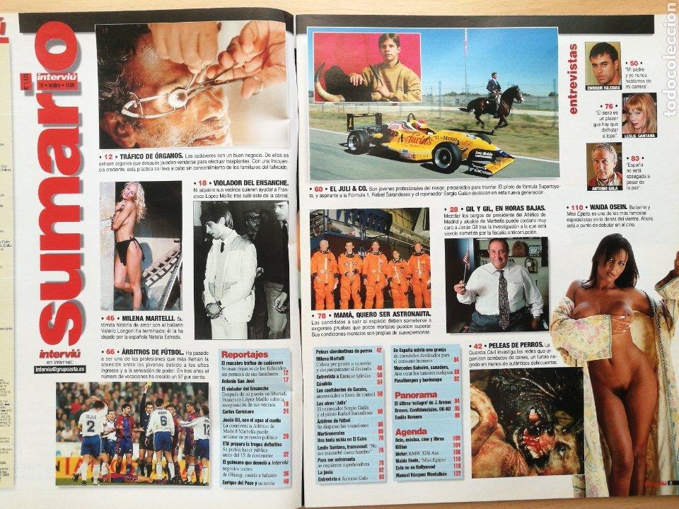 Coleccionismo de Revista Interviú: INTERVIU 1173 1998 WAIDA OSEIN, MISS EGIPTO. ENRIQUE IGLESIAS, MILENA MARTELLI, LESLIE SANTANA, GALA - Foto 2 - 262749360