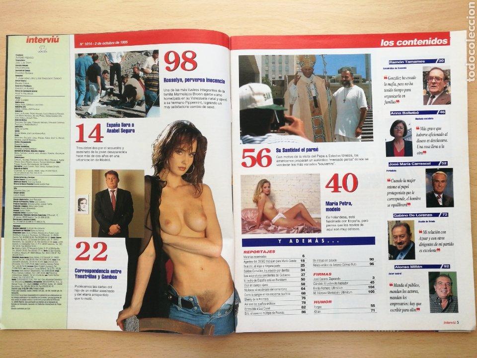 Coleccionismo de Revista Interviú: INTERVIU 1014 1995 LUZ CASAL, FRANCESCA VIVALDI, ANABEL SEGURA, MARÍA PIETRA. ALONSO MILLÁN - Foto 2 - 262751700