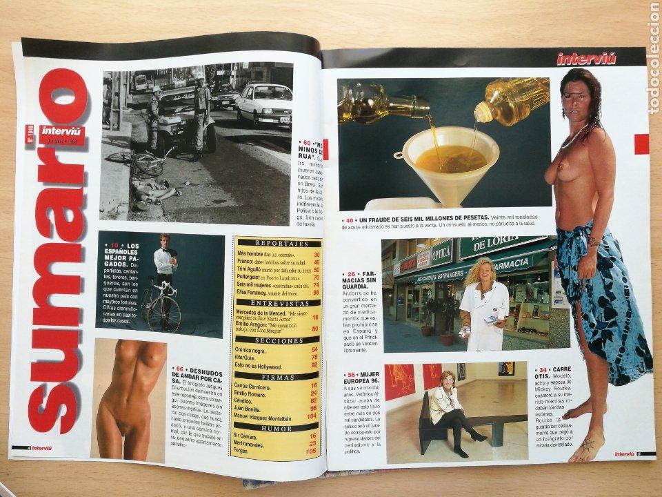 Coleccionismo de Revista Interviú: INTERVIU 1049 1996 ELISA FANAWAY, CARRE OTIS, VERÓNICA ALCÁZAR, MUTILACION GENITAL FEMENINA - Foto 2 - 262752315