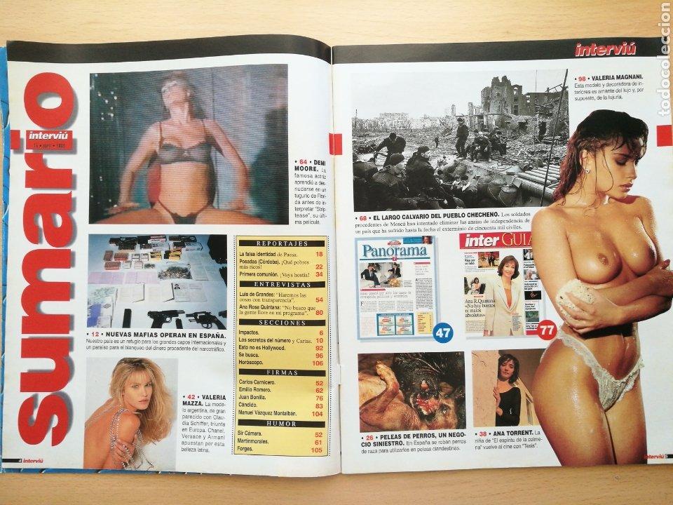 Coleccionismo de Revista Interviú: INTERVIU 1042 1996 VALERIA MAZZA, VALERIA MAGNANI, ANA TORRENT, PELEAS PERROS, ANA ROSA QUINTANA - Foto 2 - 262752625