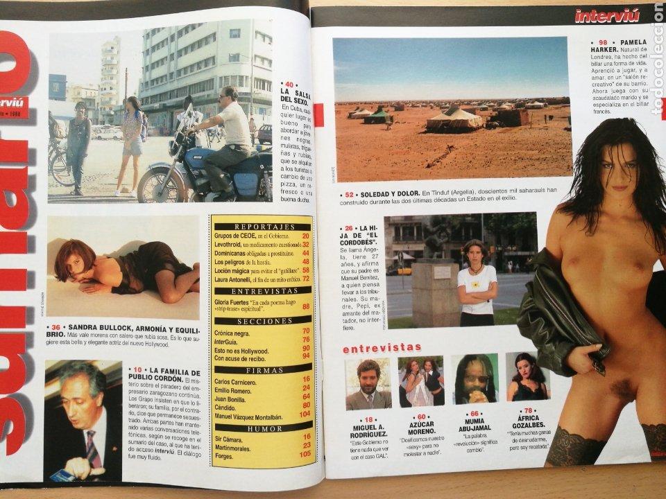 Coleccionismo de Revista Interviú: REVISTA INTERVIÚ N.º 1051 1996 SANDRA BULLOCK, PAMELA HARKER, AZÚCAR MORENO, ÁFRICA GONZÁLBEZ - Foto 2 - 262755745
