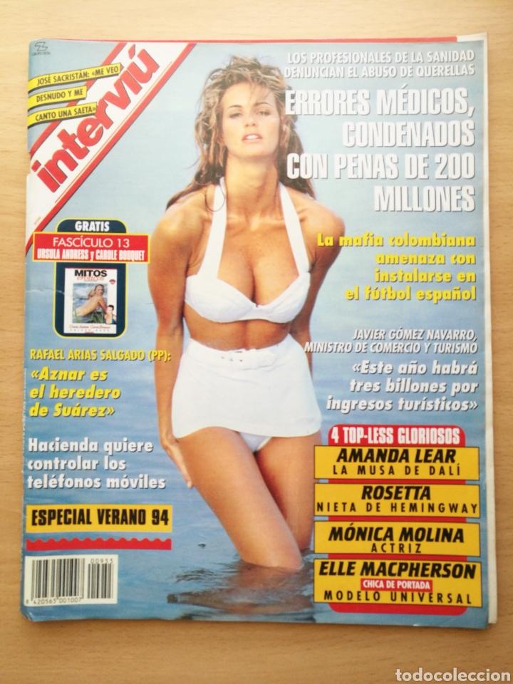 REVISTA INTERVIÚ N.º 955 1994 MONICA MOLINA, JOSE SACRISTAN, ROSETTA HEMINGWAY, VICTORIA VIVAS (Coleccionismo - Revistas y Periódicos Modernos (a partir de 1.940) - Revista Interviú)
