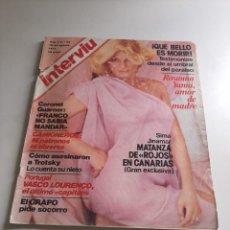 Coleccionismo de Revista Interviú: INTERVIÚ. Lote 262983350