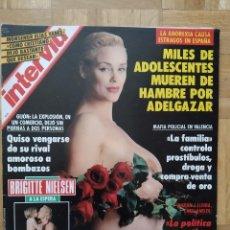 Coleccionismo de Revista Interviú: REVISTA INTERVIU 883 BRIGITTE NIELSEN MARILYN MONROE. LADY DI. TRICICLE EDGAR HOOVER. KOPLOWITZ. Lote 264163148