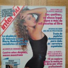 Coleccionismo de Revista Interviú: REVISTA INTERVIU 731 POSTER DE ANGELA CAVAGNA ANNA KANAKIS MIGUEL BOSE LOLITA DAVIDOVICH CHERNOBYL. Lote 264525889