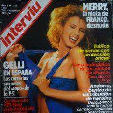 Coleccionismo de Revista Interviú: INTERVIU Nº 382, LA NIETA DE FRANCO DESNUDA, MIA NYGREEN ,FAMA, VICTOR JARA, MENOTTI, VER FOTOS. Lote 265545944