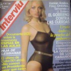 Coleccionismo de Revista Interviú: INTERVIU Nº 201, PILAR MIRÓ, VILALLONGA, SUPLEMENTO PROTAGONISTAS, URSULA ANDRESS, VER FOTOS. Lote 265676864