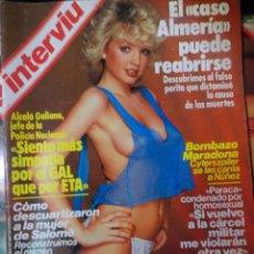 Coleccionismo de Revista Interviú: INTERVIU N°413, EVA LEÓN, SONIA BRAGA, SIAMESAS, CASO ALMERÍA, AGONÍA DALÍ, GAL, MANAGER MARADONA,. Lote 265802734