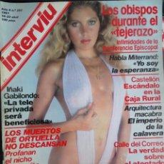 Coleccionismo de Revista Interviú: INTERVIU Nº257, IÑAKI GABILONDO, ELEONORA VALLONE,JULIO CORTÁZAR, LITA CLAVER,SUPL EXTRA, VER FOTOS. Lote 265830194