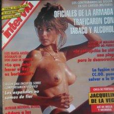 Coleccionismo de Revista Interviú: INTERVIU Nº967,JACQUELINE DE L VEGA,SYLVESTER STALLONE DESNUDO,SINDICATOS,MYRIAM MEZIERES,LOS PELAYO. Lote 265953348