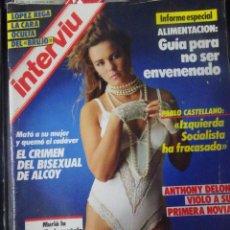 Coleccionismo de Revista Interviú: INTERVIU Nº514, ANTHONY DELON, EL NANI, VÁZQUEZ MONTALBÁN, CRIMEN EN ALCOY ,TRÁFICO DE NIÑOS. Lote 265968248