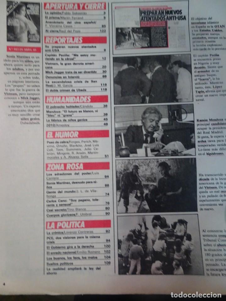 Coleccionismo de Revista Interviú: INTERVIU Nº467, SONIA MARTÍNEZ, MICK JAGGER, MENDOZA, VIETNAM, LOLITAS , CRIMEN CORTIJO ÚBEDA - Foto 3 - 266037233