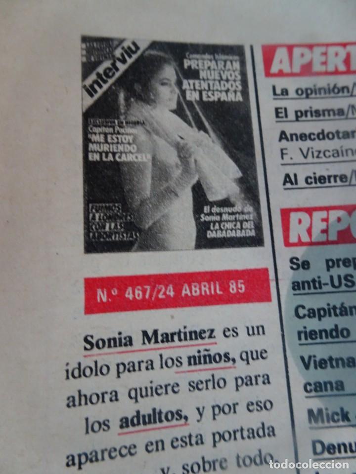 Coleccionismo de Revista Interviú: INTERVIU Nº467, SONIA MARTÍNEZ, MICK JAGGER, MENDOZA, VIETNAM, LOLITAS , CRIMEN CORTIJO ÚBEDA - Foto 4 - 266037233