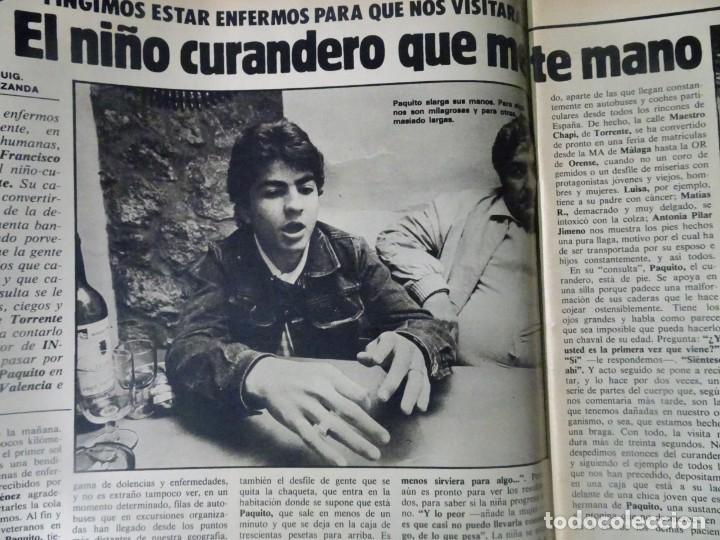 Coleccionismo de Revista Interviú: INTERVIU Nº315,PALMAR DE TROYA, MARÍA ASQUERINO,CASO VILA CARBONELL ,PANTOJA-PAQUIRRI, GEOS ALEMANES - Foto 8 - 266045573
