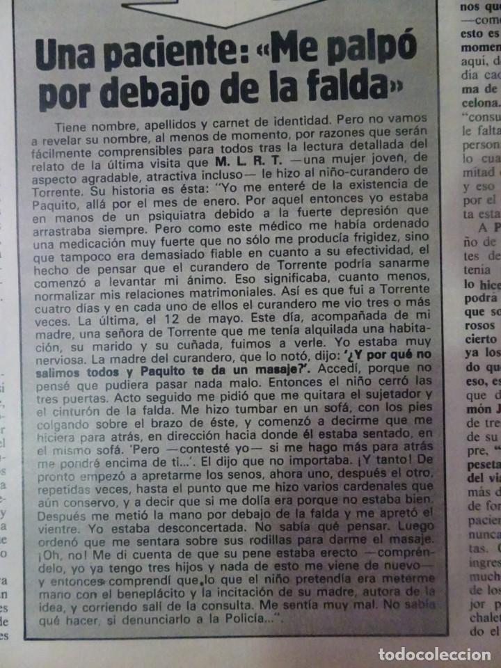 Coleccionismo de Revista Interviú: INTERVIU Nº315,PALMAR DE TROYA, MARÍA ASQUERINO,CASO VILA CARBONELL ,PANTOJA-PAQUIRRI, GEOS ALEMANES - Foto 10 - 266045573