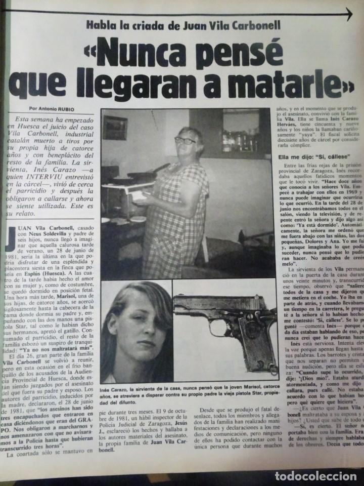 Coleccionismo de Revista Interviú: INTERVIU Nº315,PALMAR DE TROYA, MARÍA ASQUERINO,CASO VILA CARBONELL ,PANTOJA-PAQUIRRI, GEOS ALEMANES - Foto 19 - 266045573