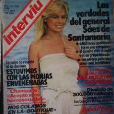 Coleccionismo de Revista Interviú: INTERVIU Nº308, ISABEL PISANO, MONJAS ENVENENADAS, SERRAT, SUPLEMENTO TIEMPO, CHANQUETE. Lote 266048268