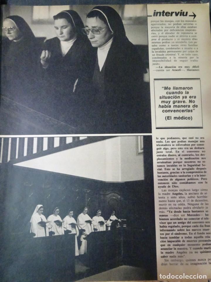 Coleccionismo de Revista Interviú: INTERVIU Nº308, ISABEL PISANO, MONJAS ENVENENADAS, SERRAT, SUPLEMENTO TIEMPO, CHANQUETE - Foto 4 - 266048268