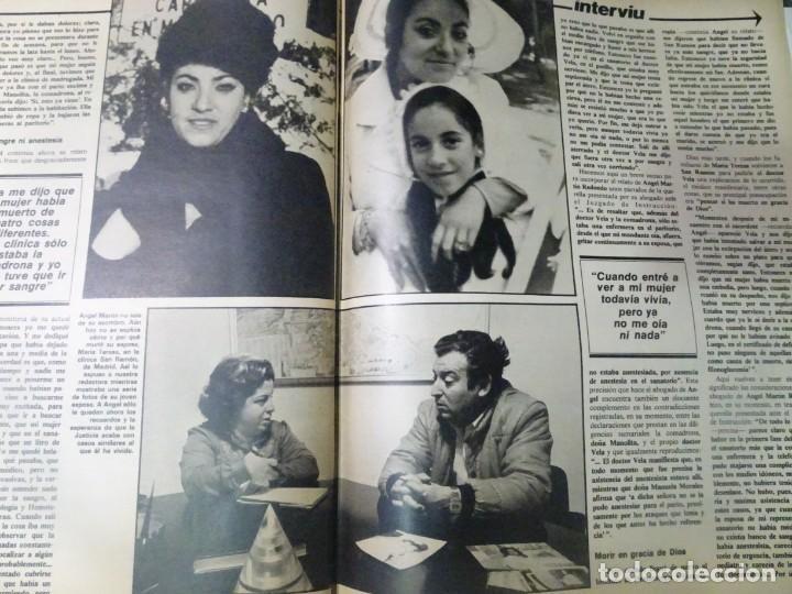 Coleccionismo de Revista Interviú: INTERVIU Nº308, ISABEL PISANO, MONJAS ENVENENADAS, SERRAT, SUPLEMENTO TIEMPO, CHANQUETE - Foto 29 - 266048268