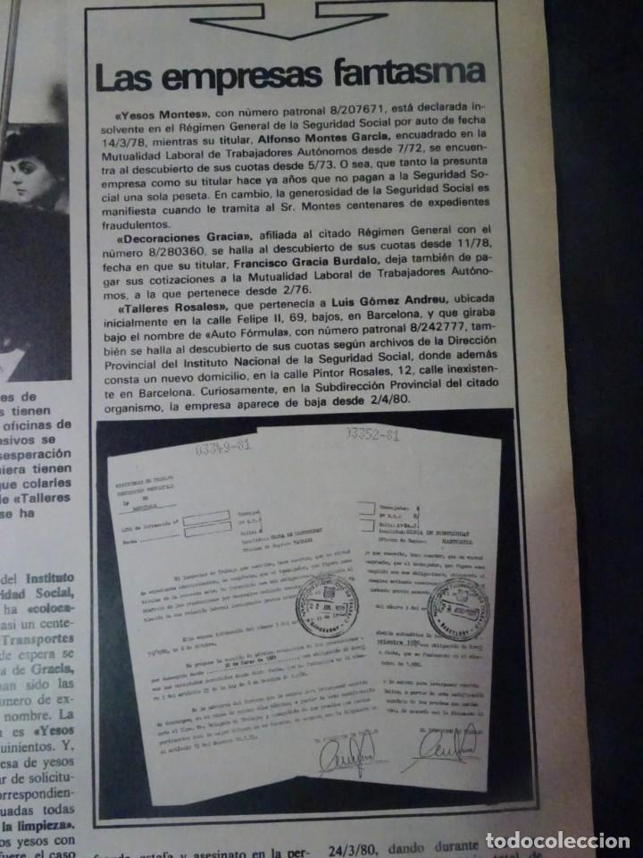 Coleccionismo de Revista Interviú: INTERVIU Nº275, SUSANA ESTRADA, SYLVIA KRISTEL, MARISOL, ETA , GUATEMALA, MUJERES BOXEO, SUPLEMENTO - Foto 5 - 266051233