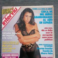 Coleccionismo de Revista Interviú: INTERVIÚ 825 1992 ALESSANDRA MUSSOLINI, MOANA POZZI, ANTONIO DEL CASTILLO, PILAR MIRÓ, SANDRA RAMOS. Lote 268316449
