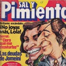 Coleccionismo de Revista Interviú: SAL Y PIMIENTA, SUPLEMENTO SATÍRICO DE INTERVIÚ Nº 19 #. Lote 268840309