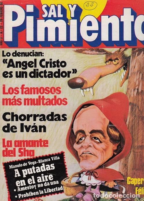 SAL Y PIMIENTA, SUPLEMENTO SATÍRICO DE INTERVIÚ Nº 22 # (Coleccionismo - Revistas y Periódicos Modernos (a partir de 1.940) - Revista Interviú)