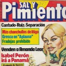 Coleccionismo de Revista Interviú: SAL Y PIMIENTA, SUPLEMENTO SATÍRICO DE INTERVIÚ Nº 24 #. Lote 268840664