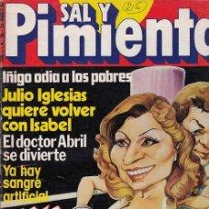 Coleccionismo de Revista Interviú: SAL Y PIMIENTA, SUPLEMENTO SATÍRICO DE INTERVIÚ Nº 26 #. Lote 268840944