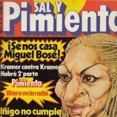 Coleccionismo de Revista Interviú: SAL Y PIMIENTA, SUPLEMENTO SATÍRICO DE INTERVIÚ Nº 31 #. Lote 268841189