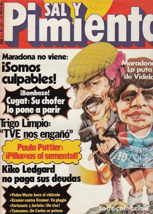 SAL Y PIMIENTA, SUPLEMENTO SATÍRICO DE INTERVIÚ Nº 33 # (Coleccionismo - Revistas y Periódicos Modernos (a partir de 1.940) - Revista Interviú)