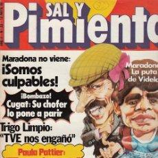 Coleccionismo de Revista Interviú: SAL Y PIMIENTA, SUPLEMENTO SATÍRICO DE INTERVIÚ Nº 33 #. Lote 268841299