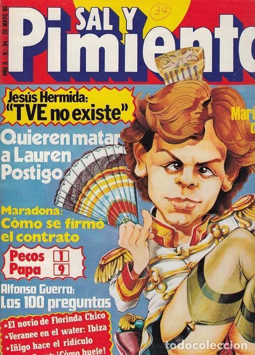 SAL Y PIMIENTA, SUPLEMENTO SATÍRICO DE INTERVIÚ Nº 34 # (Coleccionismo - Revistas y Periódicos Modernos (a partir de 1.940) - Revista Interviú)