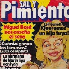 Coleccionismo de Revista Interviú: SAL Y PIMIENTA, SUPLEMENTO SATÍRICO DE INTERVIÚ Nº 38 #. Lote 268841554